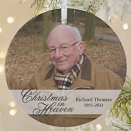 Christmas In Heaven Memorial Photo Ornament