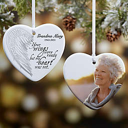 Your Wings 2-Sided Memorial Heart Ornament