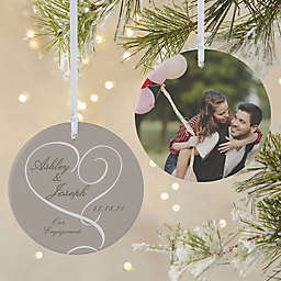 Our Engagement 2-Sided Matte Christmas Ornament