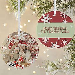 Snowflake Photo Christmas Ornament Collection