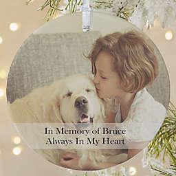 Pet Photo Memories 1-Sided Matte Christmas Ornament
