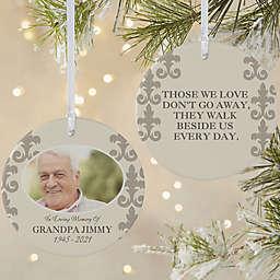 In Loving Memory for Him 2-Sided Matte Memorial Christmas Ornament