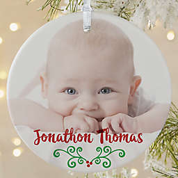 1-Sided Matte Baby's 1st Christmas Calendar Ornament- Large