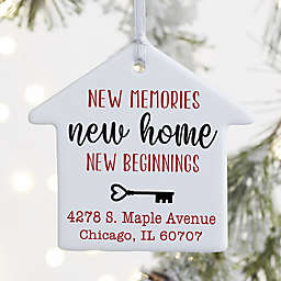 1-Sided New Memories, New Home Personalized Ornament