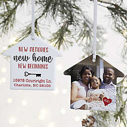 2-Sided New Memories, New Home Personalized Ornament