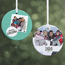 Photo Message Personalized Christmas Ornament