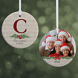 2-Sided Glossy Nostalgic Noel Personalized Ornament- Small