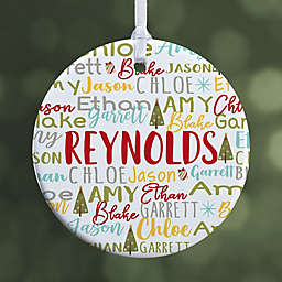 Whimsical Winter Family Personalized Ornament- Small