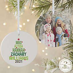 Christmas Family Tree Glossy Christmas Ornament