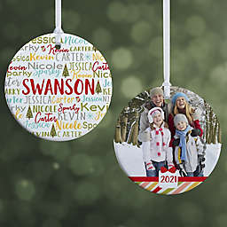 Whimsical Winter Family Personalized Ornament
