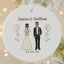 1-Sided Matte Wedding  Characters Personalized Ornament- Large