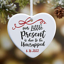 Our Little Present Personalized 2-Sided Christmas Ornament