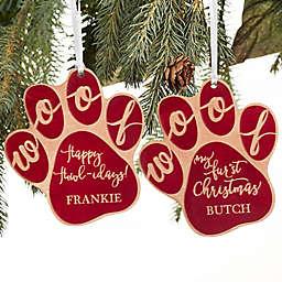 Happy Howlidays Wood Dog Ornament.