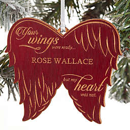 Memorial Angel Personalized Christmas Ornament