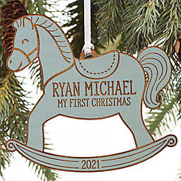 My 1st Christmas Rocking Horse Personalized Baby Ornament Collection