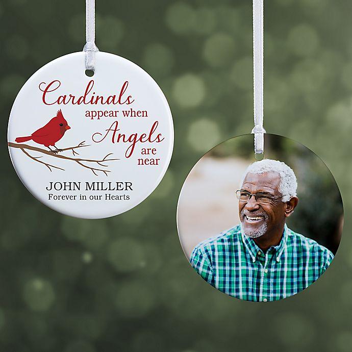 Alternate image 1 for Cardinal Memorial Personalized Ornament- 2.85\
