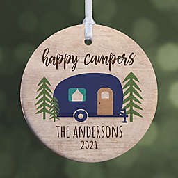 """Happy Camper Personalized Ornament- 2.85"""" Glossy - 1 Sided"""
