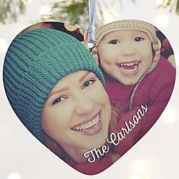 "Precious Photo Personalized Heart Ornament- 3.625"" Matte - 1 Sided"