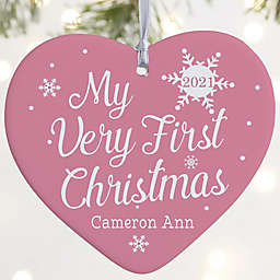 """My Very First Christmas Personalized Baby Ornament- 3.625"""" Matte - 1 Sided"""