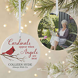 Cardinal Memorial 3.75-Inch Matte 2-Sided Personalized Ornament