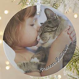 Pet Photo Memories 3.75-Inch Matte Personalized Ornament