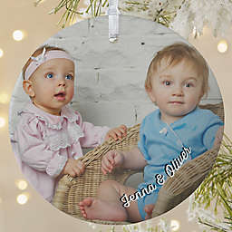 Baby Photo Memories 3.75-Inch Matte Personalized Ornament
