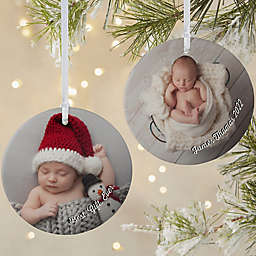 Baby Photo Memories 3.75-Inch Matte 2-Sided Personalized Ornament