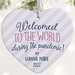 Born During A Pandemic 4-Inch Porcelain Christmas Ornament