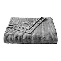 Rope Stripe Grey Cotton King Blanket