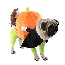 Pet Life® Extra Large Pumpkin Mon Dog Halloween Costume in Orange