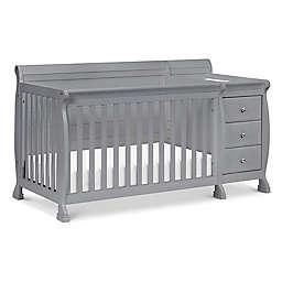 Kalani 4-in-1 Convertible Crib & Changer in Gray