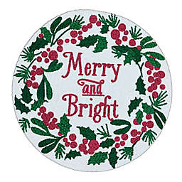 Bee & Willow™ Merry & Bright Braided Round Placemat