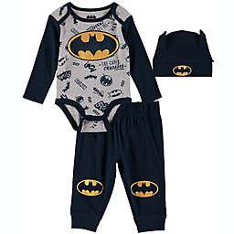 Batman 3-Piece Bodysuit & Pant Set in Navy