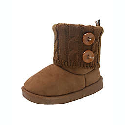 Stepping Stones Size 9 Cozy Boot in Chestnut