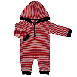 Kapital K™ Size 12M Stripe Hoodie Coverall in Maroon/Black