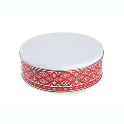 Bee & Willow™ 91 oz. Holiday Cookie Tin in Red/White