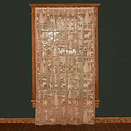 Heritage Lodge® Hollow Window Curtain Panel and Valance (Single)