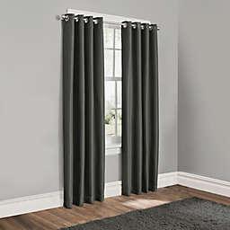 Sebastian 84-Inch Grommet 100% Blackout Window Curtain Panel in Charcoal