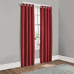 Sebastian 84-Inch Grommet 100% Blackout Window Curtain Panel in Red