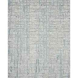 Tayse Rugs Ryder Crackled Stripe 5'3 x 7'3 Indoor/Outdoor Area Rug in Blue