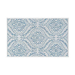 Tayse Rugs Denver Dionne 2' x 3' Indoor/Outdoor Accent Rug in Cream