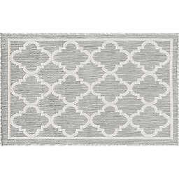 Tayse Rugs Shaila Geometric 2' x 3' Indoor/Outdoor Accent Rug in Grey