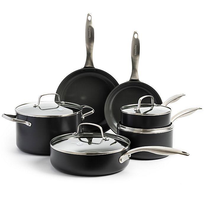 Alternate image 1 for GreenPan™ Canterbury Nonstick Hard-Anodized Aluminum 10-Piece Cookware Set