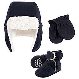 Hudson Baby® Size 6-12M 3-Piece Hat, Mitten & Bootie Set in Navy
