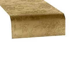 Elrene Poinsettia Elegance 70-Inch Table Runner in Gold
