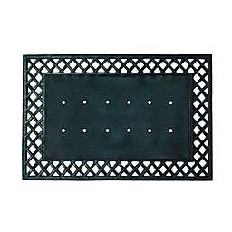 """Simply Essential™ 24"""" x 36"""" Lattice Rubber Door Mat Base in Black"""