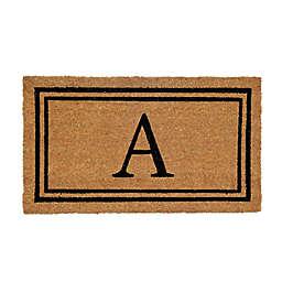"Simply Essential™ 16"" x 28"" Monogram Letter Coir Door Mat Insert"