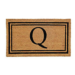"Simply Essential™ 16"" x 28"" Monogram ""Q"" Coir Door Mat Insert"