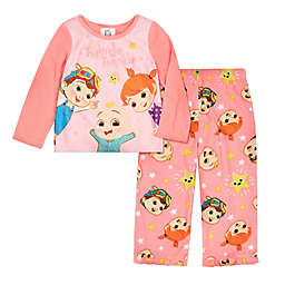 Cocomelon Twinkle 2-Piece Fleece Pajama Set in Pink/Coral