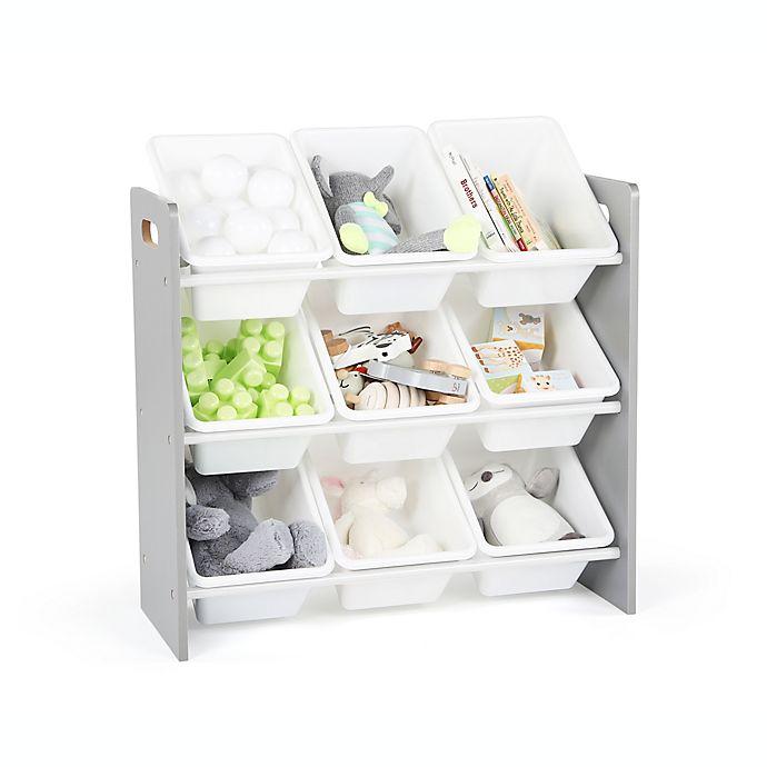 Alternate image 1 for Humble Crew Kids Toy Storage Organizer in Grey/White